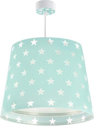Dalber - Hängeleuchte mit Sternenmuster grün