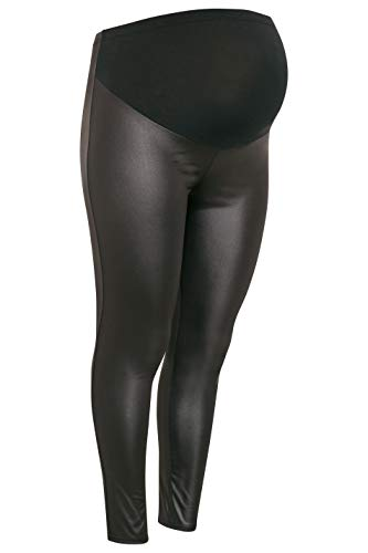 Plus Size Women's Maternity Wet Look Leggings