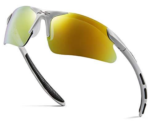 Kids Sports Sunglasses for Boys Girls Children Age 3-10 - Half Frame UV400 Baseball Cycling Softball Glasses