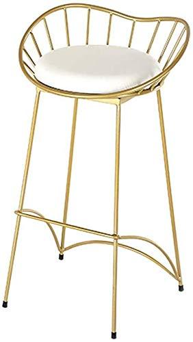 WWW-DENG barkruk casual hoge stoel wit kussen velvet goud frame metalen zithoogte 29,5 inch voor keuken kruk bistro bar café kruk barkruk barkruk barkruk barkruk barkruk