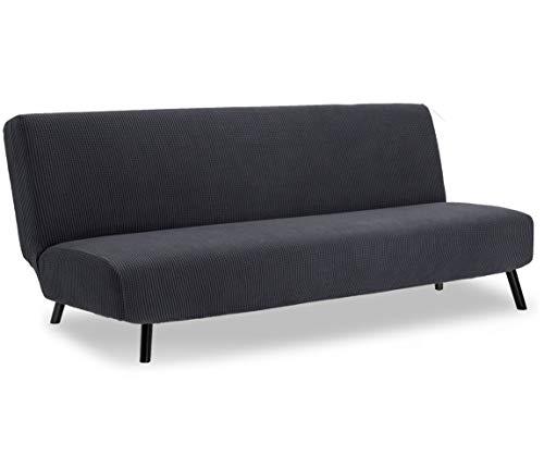 TIANSHU Sofabezug ohne armlehnen 3 sitzer,Spandex Couchbezug ohne armlehne Elastischer Antirutsch Stretchhusse Weich Stoff(Ohne armlehnen,Grau)
