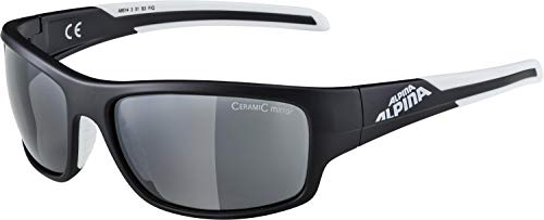 ALPINA TESTIDO Sportbrille, Unisex– Erwachsene, black matt-white, one size