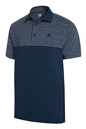 Three Sixty Six Quick Dry Golf Shirts for Men - Moisture Wicking Short-Sleeve Casual Polo Shirt Midnight Blue
