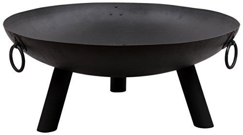 Gardeco Dakota Steel Fire Pit, Black, 80 x 80 x 34 cm