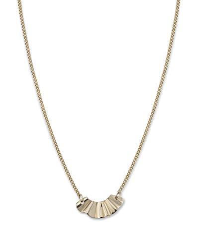 Rosefield Damen Liquid Waved Halskette Gold BLWNG-J201