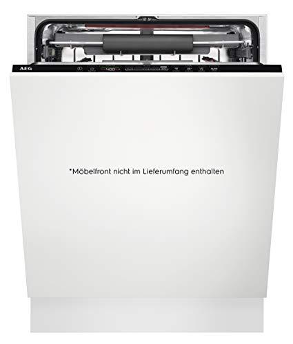 AEG FSE63727P Vollintegrierter-Geschirrspüler / 60cm / AirDry - perfekte Trocknungsergebnisse / A+++ / energiesparend / Besteckschublade / QuickSelect Display / Beladungserkennung / extra leise