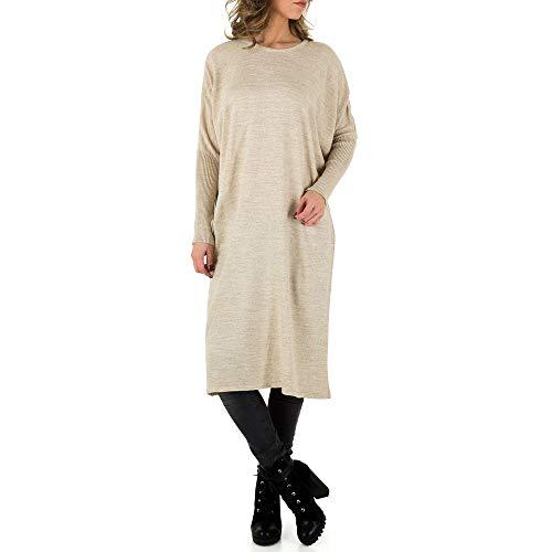 Ital-Design Oversize Strick Kleid Milas Creme