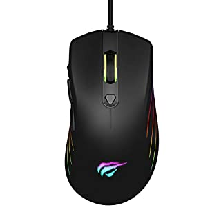 havit Ratón Gaming RGB con Cable, 7 Botones Mouse Gaming programables,5 dpi Ajustables [800-1600-2400-4800-6400DPI],para Gamer/PC/Netbook (B07JPXH4KN) | Amazon price tracker / tracking, Amazon price history charts, Amazon price watches, Amazon price drop alerts