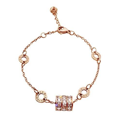 Damenarmband,Armbands Armband Mehreren Scheibenanhängern Kristalldiamantarmband Glänzendes Zirkon Kristallanhängerarmband, Armband