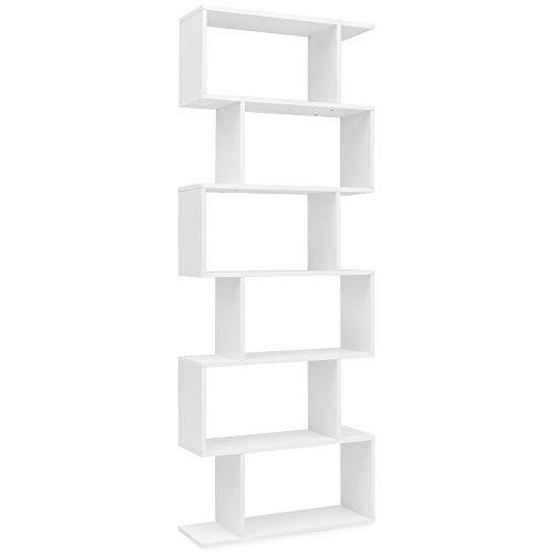 WOHNLING WL5.691 Libreria, Legno, Bianco, 70 x 23,5 x 190,5 cm