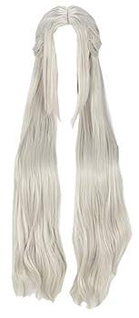 Yewei Hot Game Fire Emble Edelgard Cosplay Elegant Wig  White One Size