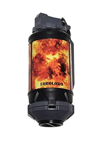 LOBOLOKO Edition Granate OHNE Gas - Wiederverwendbar - Federbetrieben unter 0.5 Joule / Softair Grenade - für Airsoft 6mm BB oder Wasserperlen