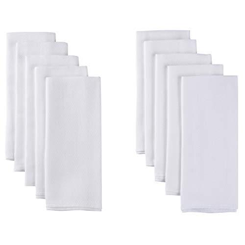 GERBER Birdseye Cloth Diapers, Prefold, 20Count, White