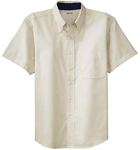 Joe's USA - Men's Short Sleeve Wrinkle Resistant Easy Care Shirts-XL