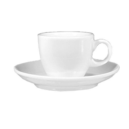 Seltmann Weiden 001.115041 Lukullus - Espressotasse/Moccatasse - 1132-0,09 l - mit Untertasse - Porzellan - weiß