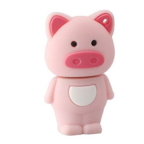 Chiavetta USB a forma di maialino in gomma USB 2.0 con chiavetta Piggy USB 8GB - Rosa