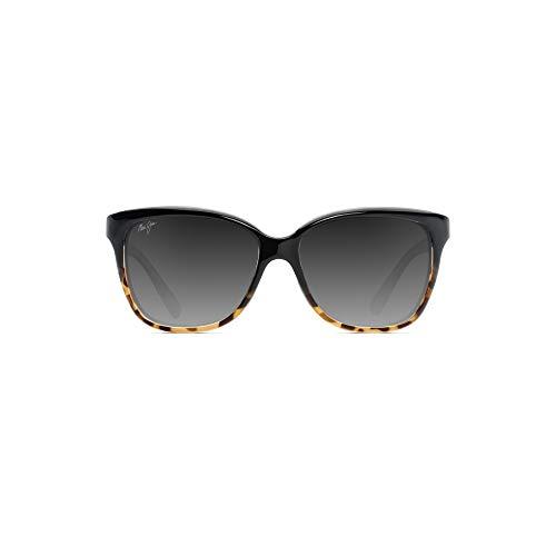 Maui Jim Women's Starfish w/ Patented PolarizedPlus2 Lenses Polarized Fashion Sunglasses, Black With Tortoise/Neutral Grey Polarized, Medium