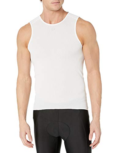 PEARL IZUMI Men's Transfer Cycling Sleeveless Baselayer, White, X-Small