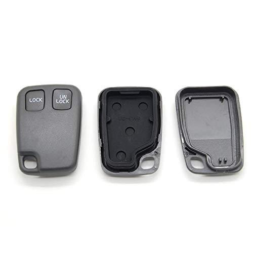 Volvo - Carcasa con Mando a Distancia para Llave de Coche Compatible S40, V40, S70, V70 y C70 (2 Botones)