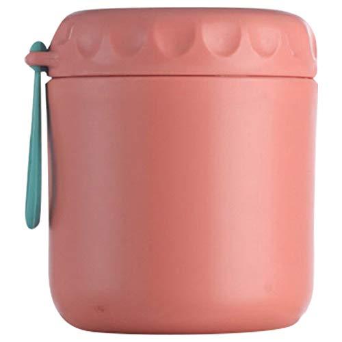 Cabilock Lancheira de aço inoxidável com isolamento térmico para mingau de sopa, recipiente portátil para piquenique, escola, escritório (430 ml, vermelho)
