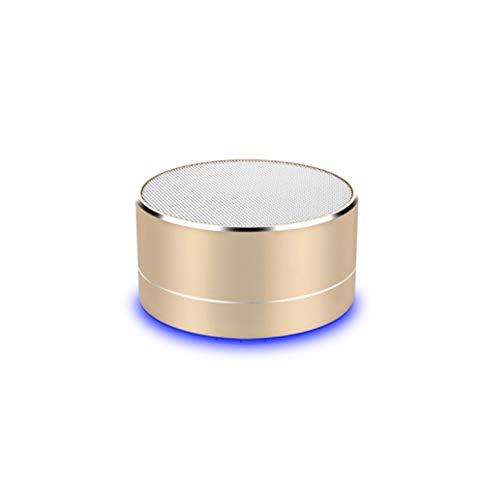 Enceinte Metal Bluetooth pour HTC U Ultra Smartphone Port USB Carte TF Auxiliaire Haut-Parleur Micro Mini (Or)