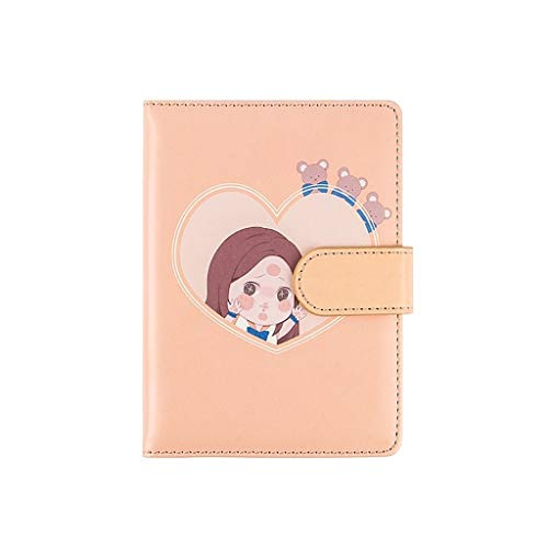 SKK Exquisite Thick Hardcover Notebook/Journal Lovely Leather Classic Lined Magnetic Buckle Sketching Writing (Color : Yellow)