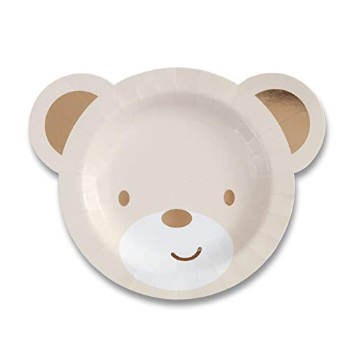 Hatton Gate Teddy Bear geformte Papier-Party Platten 8 Platten pro Packung