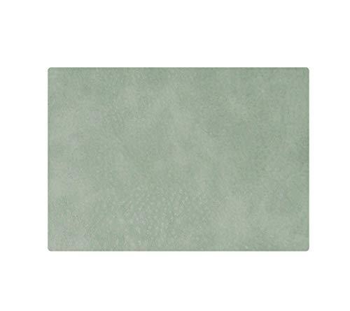 ASA – Set de table – Couleur : vert menthe, cuir synthétique végétalien – 46 x 33 cm