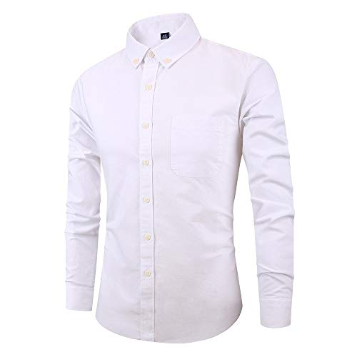 Heren Gestreepte Jurk Shirts Lange Mouw Turn-Down Kraag Knop Slim Fit Regular Fit Casual Zakelijke Shirts Blouse