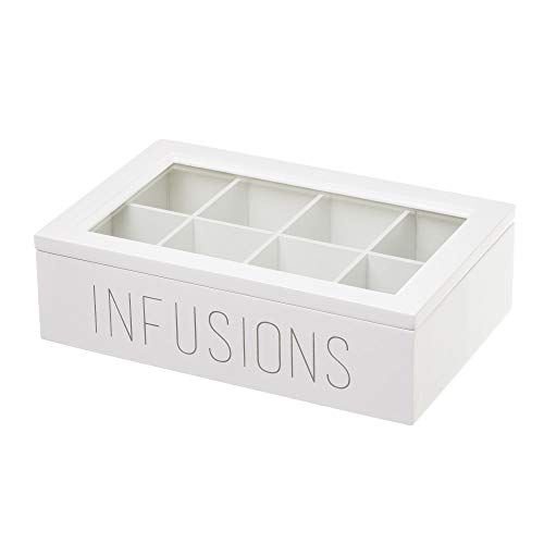 Caja infusiones de Madera Blanca Moderna para Cocina Vitta - LOLAhome