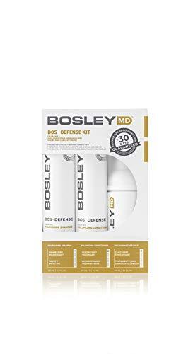 Bosley MD BOSDefense Kit Color Safe Int'l - 1x 150nl Shampoo, 1x 150ml Conditioner, 1x 100ml Thickening Treatment