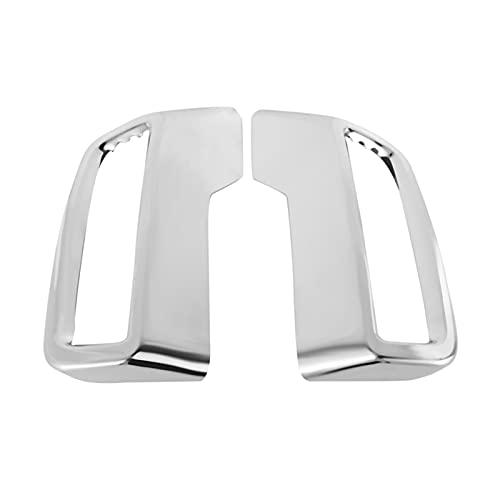 jis Ajuste para Peugeot 3008 5008 Allure 2017 - Cubierta de cola de la tubería de escape 2019 ABDOMINALES Tapa del extremo del silenciador del escape trasero Tapa de la cubierta de la cubierta de la c