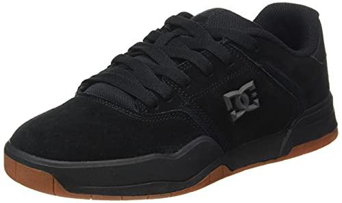Dcshoes Central-Leather Shoes, Scarpe da Ginnastica Uomo, Schwarz, 44 EU