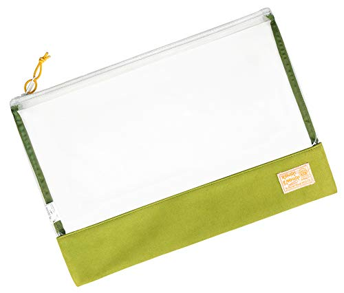 Rough Enough Document Safe Clear File Organizer Folders Plastic Transparent Bag File Green Pouch A4 Paper Letter Manila Size for Filing Case Large with Zipper Carry Legal Notebook for School Office