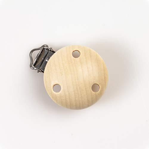 Holz-Clips | natur | seidig poliert | Ø 35mm | gravierbar