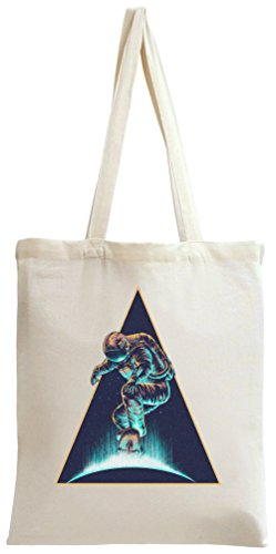 Cosmic Galaxy Space Astronaut Skateboarder Tote Bag