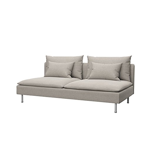 Soferia Funda de Repuesto para IKEA SÖDERHAMN módulo de 3 plazas, Tela Classic Dark Beige, Beige