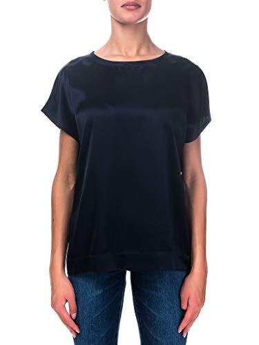 HEMISPHERE Blusa Blu, Modello Daleda-5, Girocollo, Mainche Corte, Regular Fit M