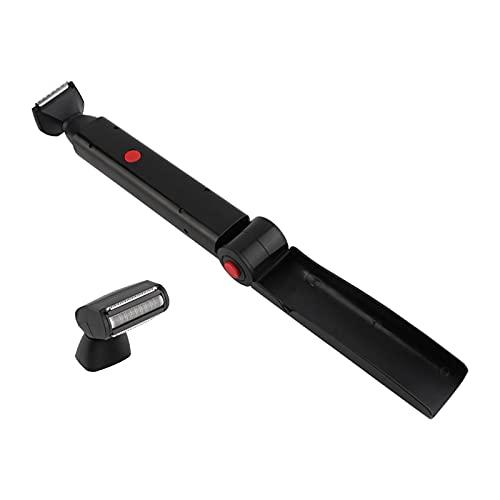 Sharplace Afeitadora de Pelo Trasera Plegable con Mango Largo USB Portátil Afeitadora de Depilación Trasera