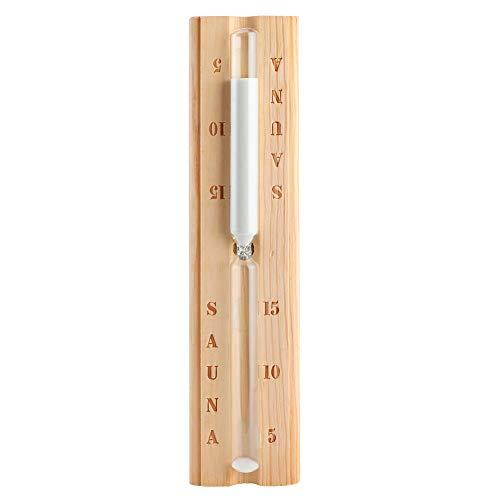Fictory Sanduhr, Holzsauna Sanduhr 15 Minuten Sanduhr Countdown-Uhr Zubehör für Sauna Spa-Raum