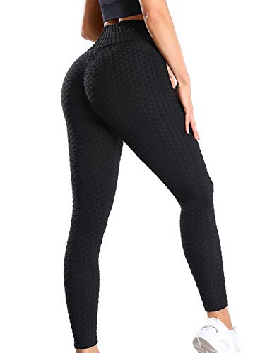 SLIMBELLE Damen Sport Leggings Anti-Cellulite Yogahosen Push Up Booty Leggins Hohe Taille Honeycomb Scrunch Fitnesshose Sporthose Slim Fit Laufhose Ruched kompressionsleggings für Gym Yoga Training