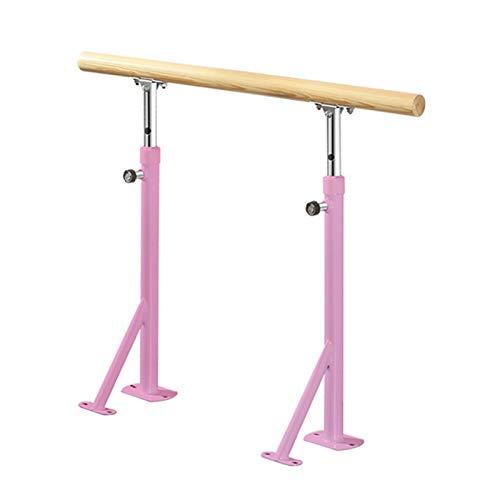 Barre Baletowe Wolnostojące, Przenośne Baletki Do Tańca Barre Do Rozciągania Do Tańca W Domu Barre Fitness Gimnastyka Słupek Baletowy (Color : Pink, Size : 1.5 m)