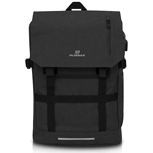RUGSAK Rolltop Rucksack Laptopfach [3-Size-Technology] Anti Diebstahl | Laptoprucksack...