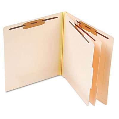 Manila End Tab Classification Folders, 2 Dividers/Six-Section, Letter, 10/Box, Sold as 10 Each