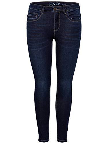 ONLY Damen Skinny Fit Jeans ONLKendell reg Ankle 2730Dark Blue Denim