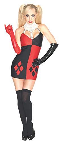 Rubies Disfraz oficial de Harley Quinn de Super Villain para adulto, talla grande