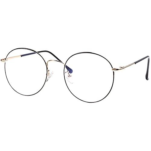 ROSA&ROSE Occhiali da lettura con blocco della luce blu - Occhiali Antiriflesso Anti Eyestrain Occhiali retrò Per UV PC Gaming Computer Unisex (uomini/donne)