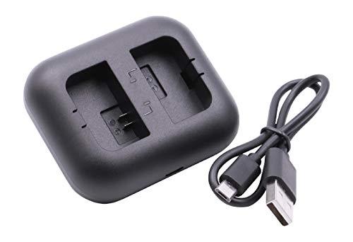 vhbw Dual USB Akkuladegerät kompatibel mit Sony Alpha NEX-5D, NEX-5DB, NEX-5HB, NEX-5K Digitalkamera, Camcorder, Action Cam-Akku - Ladeschale