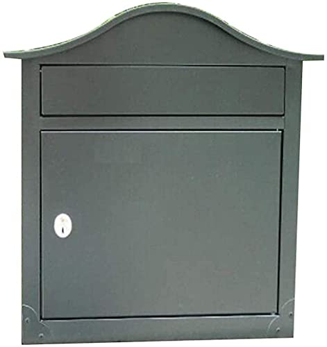 Mailbox Mail Manager Locking Security MailboxLockable Letter Box Wall Mount Mailbox Galvanized Steel Waterproof Design PostboxMailboxes for Outside Post Mount