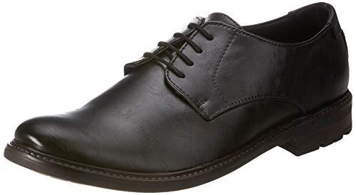 Amazon Brand - Symbol Men's Black Synthetic Formal Shoes - 9 UK (AZ-OM-72A)